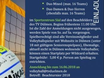 Volleyball: Ankündigung 9. Beachmeisterschaften